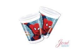 Spiderman bekers bestellen voor het Spiderman's verjaardagsfeest van jouw zoon? Bestel nu ook online spiderman slingers, servetten en/of borden! De Spiderman bekers hebben een inhoud van 200 ml en worden per 8 stuks verpakt.  #josebakery #spiderman #feestartikelen #bekers #spidermanfeestartikelen