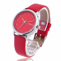 NICE FASHION Crystal Red Quartz Women Wrist Watch Sport Lady Bracelet Dial 10048