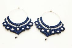 macrame earrings with beads
