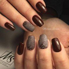 Wine & textured taupe - #nails #nail #art #artnails #nailsart