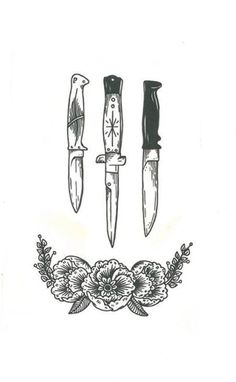 knife tattoo | Tumblr