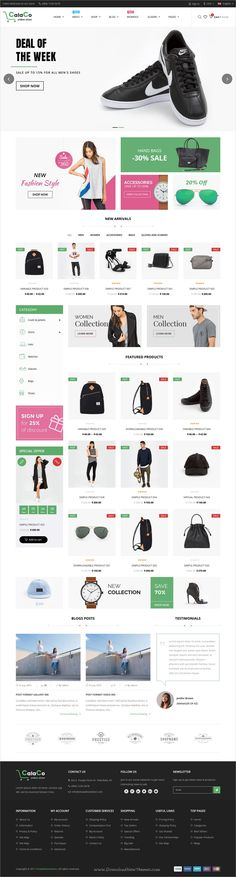 VG Calaco is stylish and responsive WooCommerce #WordPress theme for #webdev fashionable #eCommerce website with 4 homepage layouts download now➩  https://themeforest.net/item/vg-calaco-clothing-and-fashion-wordpress-theme/19356422?ref=Datasata