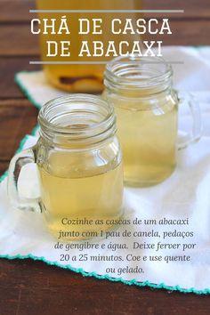Chá de casca de abacaxi com especiarias