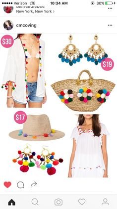 white peasant top // jean shorts // pom pom wedges // straw bag Today's post is a little different. Diy Fashion, Ideias Fashion, Womens Fashion, Southern Curls And Pearls, Embroidery Boutique, Iranian Women Fashion, Pom Pom Crafts, Diy Clothes, Boho Chic