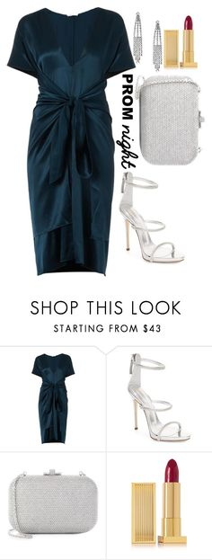 """""""Untitled #1709"""" by mihai-theodora ❤ liked on Polyvore featuring Issa, Giuseppe Zanotti, Judith Leiber, Lipstick Queen and Yves Saint Laurent"""