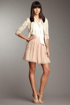 BCBGMAXAZRIA Alegra Bias Tiered Skirt by Bottoms Under $75 on @HauteLook