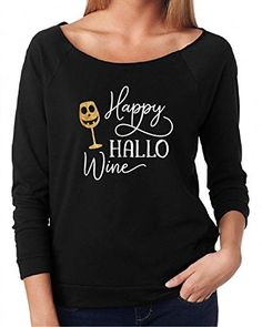 e404fad2965e Halloween Shirt For Women Funny T-shirt Happy Hallo Wine #Halloween  #halloweendecorations #