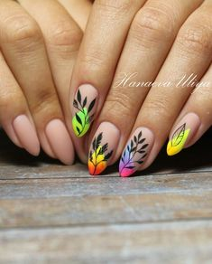 Try some of these designs and give your nails a quick makeover, gallery of unique nail art designs for any season. The best images and creative ideas for your nails. Neon Nails, Yellow Nails, My Nails, Red Nail, Cute Nails, Pretty Nails, Nail Art Designs, Nail Design, Nail Art Halloween