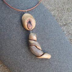Quartz & root wood necklace  Australian by NaturesArtMelbourne