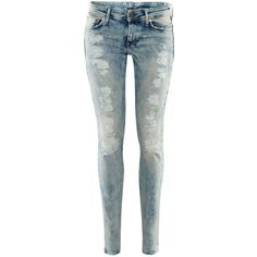 H Skinny Low Jeans ($46) ❤ liked on Polyvore