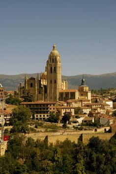 Segovia, in Spain. Seafood and classic guitars! And of course the barking doggies... alas, what you can do?