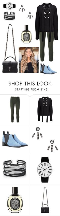 """Untitled #622"" by miiirrra ❤ liked on Polyvore featuring J Brand, Joseph, Acne Studios, Lynn Ban, Alor, Rosendahl, Diptyque and Yves Saint Laurent"