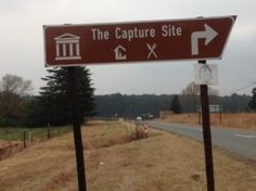 Entrance to the finish of the Mandela Marathon, Nelson Mandela Capture Site