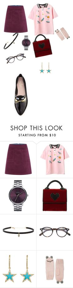 """""""kawaii"""" by alexbright111 ❤ liked on Polyvore featuring White Stuff, Topshop, Les Petits Joueurs, Carbon & Hyde, Moscot, Jennifer Meyer Jewelry, Forever 21 and Kate Spade"""