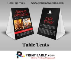 Table Tents, Banner Printing, Grand Opening, Reading, Prints, Opening Day, Word Reading, Reading Books, Printmaking