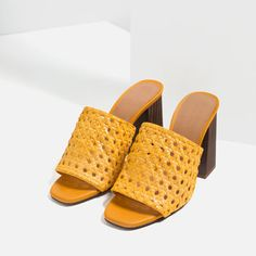 Image 4 of BRAIDED HIGH HEEL MULES from Zara