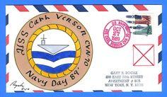 USS Carl Vinson CVN-70 Navy Day Oct 27, 1989 - Rogak Cachet