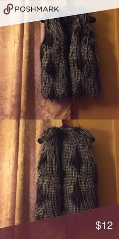 Black Fur Vest H&M.. Size 6/Medium.. Inside of vest is silk.. No fur is missing. In perfect condition. H&M Jackets & Coats Vests