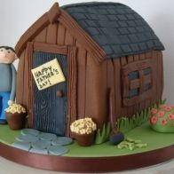 Fathers Day Shed Cake Fab Cakes, Sweet Cakes, Masculine Cake, Building Cake, Cake Makers, Celebration Cakes, Cakes And More, Beautiful Cakes, Cake Ideas