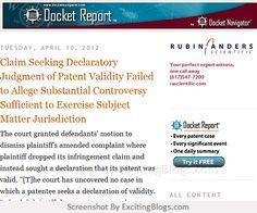 Patent Infringement Blog - Click to visit blog:  http://1.33x.us/uCqfSg