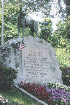 War Dog Memorial  at Hartsdale Pet Cemetary| America's First Pet Burial Grounds | Established in 1896