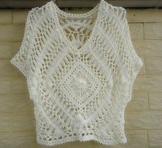 hairpin crochet women boho top lace blouse beach cover up on Etsy, $35.00