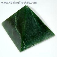 Pyramid - Green Jade (Nephrite) Pyramids- Jade - Healing Crystals