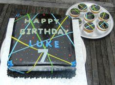 Laser Tag Cake & Cupcakes