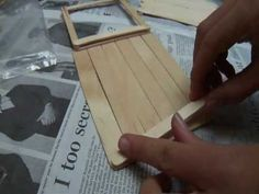 Popsiclestick Barn Tutorial Part 1 - Sliding Doors