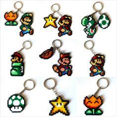Keychains, Broochs, magnets, Big sprites...from Super Mario Bros saga/Llaveros, imanes, broches, Big sprites...  3,95€ https://www.etsy.com/es/listing/169081382/sprites-super-mario-bros-llaveros-imanes #videogames #videojuegos #gamer #freak #geek #friki #nintendo
