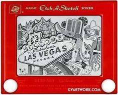 Vegas etch a sketch art