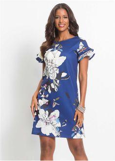 Платье с цветочным принтом синий в цветочек - Для женщин - BODYFLIRT boutique - bonprix.kz
