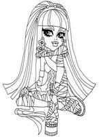 Monster High coloring pages Cleo de Nile