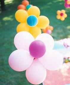 Decoración con globos para fiesta infantil