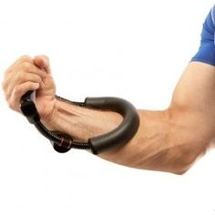 FITSY Adjustable Forearm Strengthener Wrist Exerciser Equipment for Upper Arm Workout and Strength Training- Hand Grip (Black)
