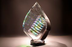 Glass Sculptures Designs by Fine Art Glass Artist Jack Storms~ The Tier Drop