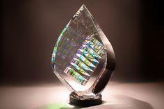 Glass Sculptures Designs by Fine Art Glass Artist Jack Storms~ The Tier Drop