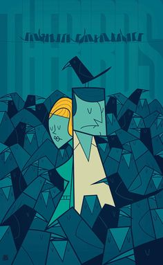 Movie themed illustrations by Ale Giorgini The Birds