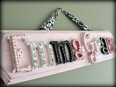 Shabby Chic Letters for Baby's Room