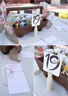 kids table at wedding. I;m adding kraftpaper table cloths so I don't accidentally have them drawing on the linens
