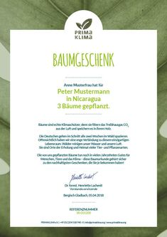 PRIMAKLIMA e.V.–Geschenkideen Personalized Items, Greenhouse Gases, Tree Planting, Tree Structure, Life, Products