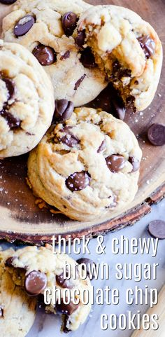 If you're a fan of THICK chocolate chip cookies, this recipe is for you!