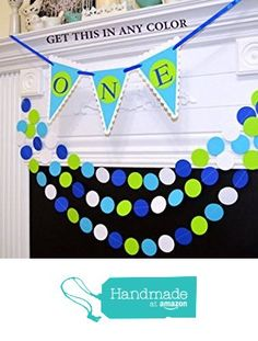 I am one banner and garland set, Baby's 1st birthday party decor, lime green birthday banner, highchair banner, I am 1 birthday decor from ANY…