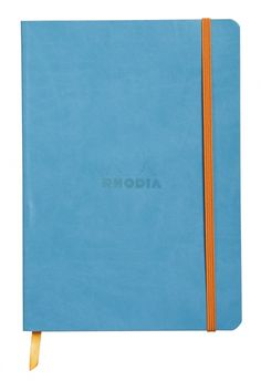 rhodiarama soft cover notebook - medium, turquoise, lined | Writer's Bloc