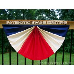 Patriotic Swag Bunting From Under The Table And Dreaming