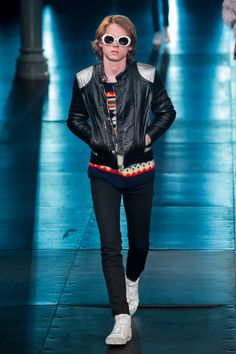 Fashion Photo, Men's Fashion, Fashion Trends, Hedi Slimane, Saint Laurent Paris, Denim Coat, Fashion Studio, Leather Jackets, Jacket Style