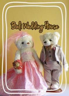 Pink wedding teddy bear