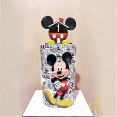 Moist chocolate cake with cookies and cream buttercream covered in milk chocolate ganache and buttercream for a baby boy's first birthday. He just adores Mickey! Milk Chocolate Ganache, Chocolate Cake, Mickey Mouse Cake, Minnie Mouse, Disney Cakes, Cookies And Cream, Cookie Jars, First Birthdays, Baby Boy