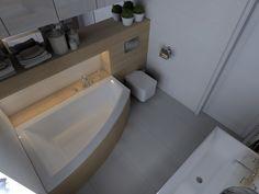 ŁAZIENKI DRZONKÓW - Łazienka, styl nowoczesny - zdjęcie od KADA WNĘTRZA S.C Simply Beautiful, Beautiful Homes, Narrow Bathroom, Malaga, Home Art, Sweet Home, Bathtub, Interior Design, House