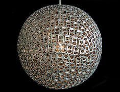 DIY chandelier made of aluminium pop can tabs - something other than the dollies lamp....